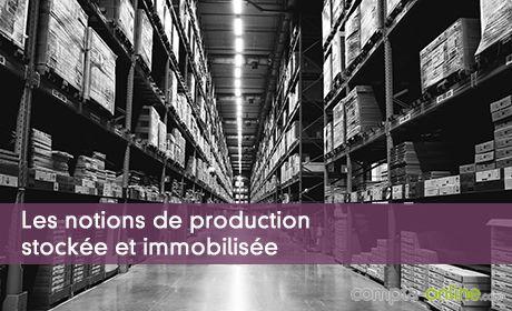 Les notions de production stockée et immobilisée