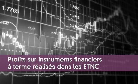 Profits sur instruments financiers à terme réalisés dans les ETNC
