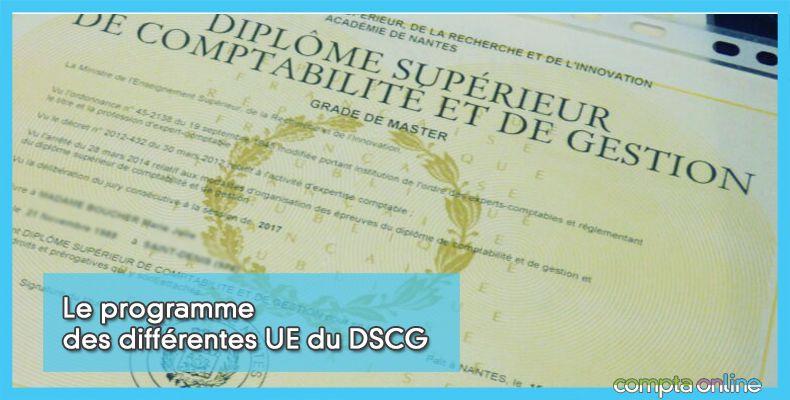 Programme du DSCG