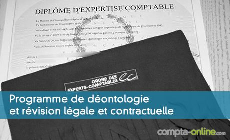 Programme de déontologie et révision légale et contractuelle