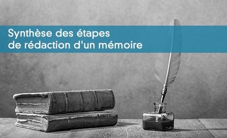 Prévoir le temps nécessaire à la rédaction d'un mémoire !