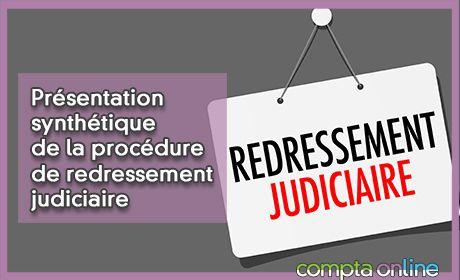 Présentation synthétique de la procédure de redressement judiciaire
