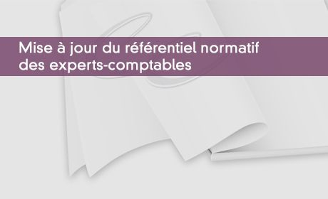 Mise à jour du référentiel normatif des experts-comptables