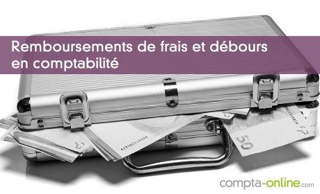 Remboursements de frais et débours en comptabilité