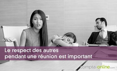 Le respect des autres pendant une réunion est important