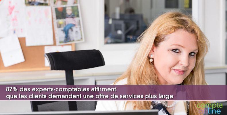 82% des experts-comptables affirment que les clients demandent une offre de services plus large