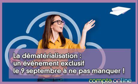La dématérialisation : un événement exclusif le 9 septembre à ne pas manquer !