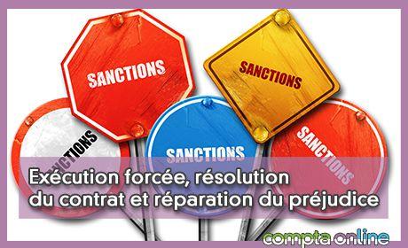 Exécution forcée, résolution du contrat et réparation du préjudice