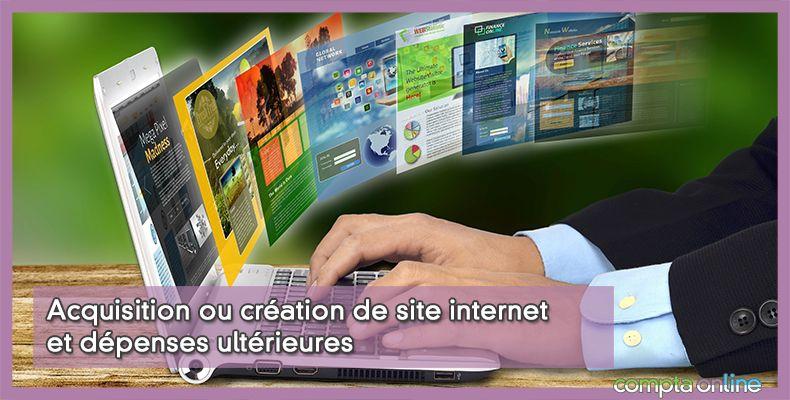 Comptabilisation site internet