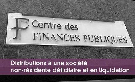 Distributions à une société non-résidente déficitaire et en liquidation