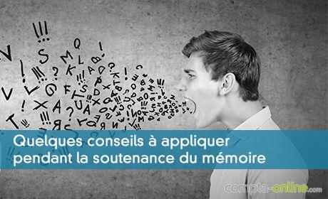 Quelques conseils à appliquer pendant la soutenance du mémoire