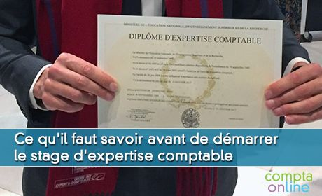 Stage d'expertise comptable