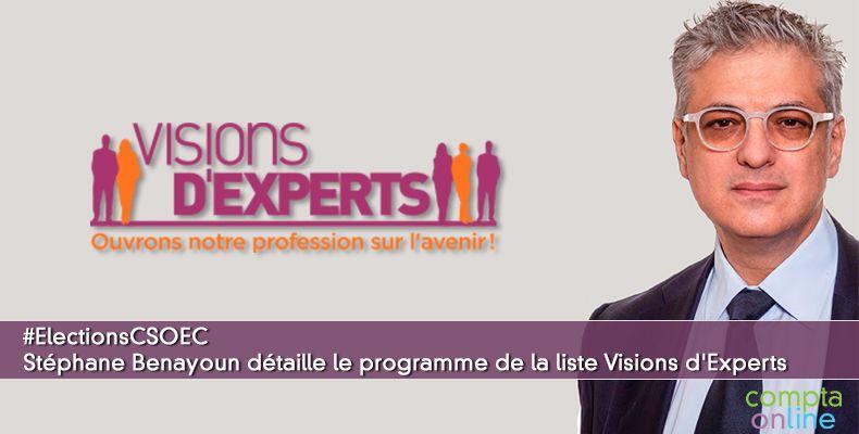 #ElectionsCSOEC Stéphane Benayoun détaille le programme de la liste Visions d'Experts