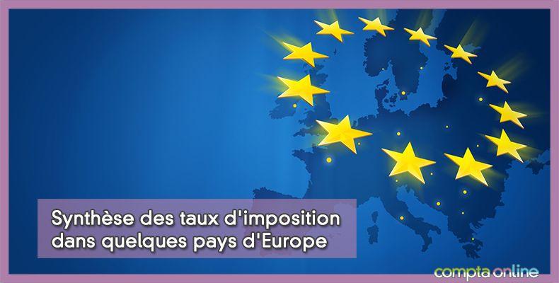 Synthèse des taux d'imposition dans quelques pays d'Europe
