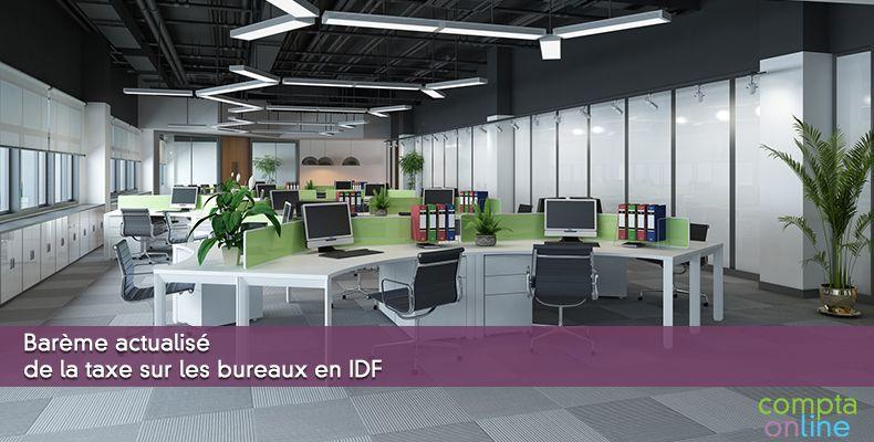 Barème actualisé de la taxe sur les bureaux en IDF