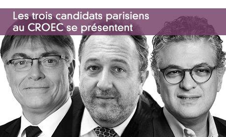 Les trois candidats parisiens  au CROEC se présentent