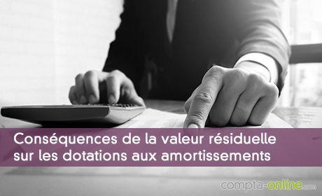 Conséquences de la valeur résiduelle sur les dotations aux amortissements