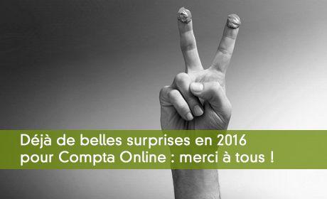 Compta Online bat déjà des records en 2016