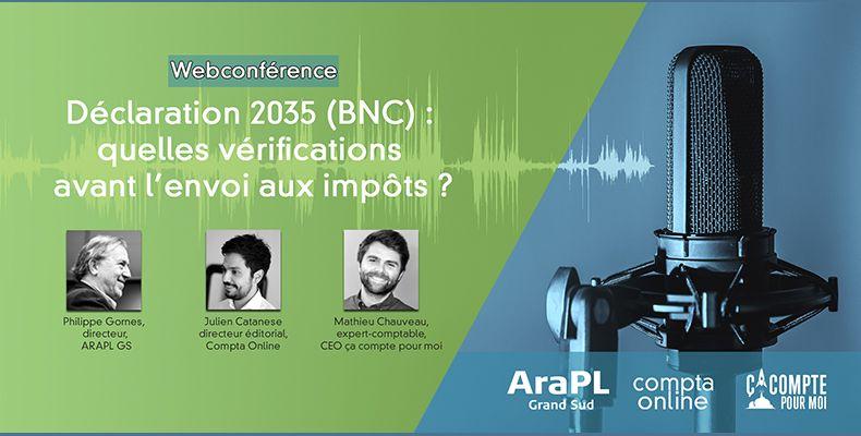 [Webconférence] Quelles sont les points à vérifier avant d'envoyer la déclaration 2035 (BNC) ?