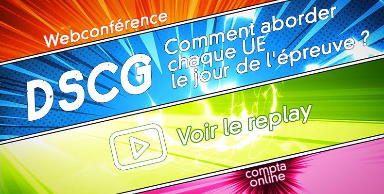 Save the date : webconférence spéciale DSCG le 13/10 à 18h sur Youtube