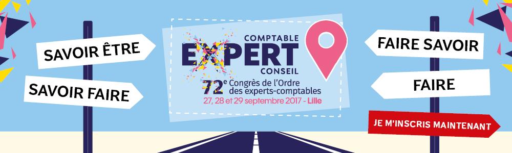 72e Congrès de l'Ordre des experts comptables - du 27 au 29 septembre 2017